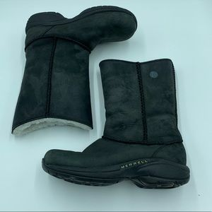 Merrell 6.5 black lined boots